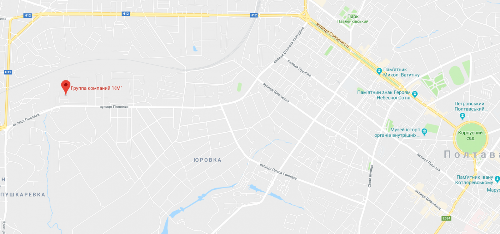 "Группа компаний ""КМ"" на карте"